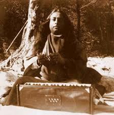 Master chanting outdoors
